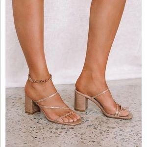 Billini Yazmin Nude Croc Heels Size 9- Brand NEW!